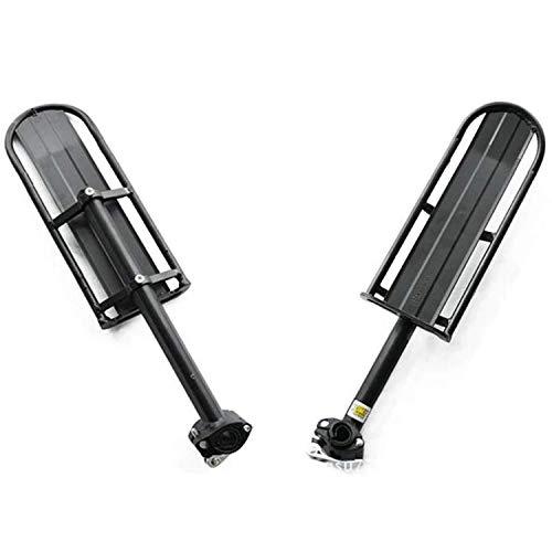 LXGANG Accessori per biciclette Strumento Portatile Bicicletta Cornice posteriore in lega di alluminio Mountain bike a sgancio rapido Lunghezza regolabile Lunghezza Appartamento Bavaglino Apparecchiat