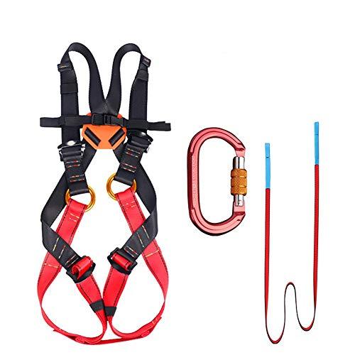 DFGENLY Ganzkörper Klettergurt Mehrzweck für Kinder Verstellbarer passend für 8-15 Jahre Outdoor Sicherheitsgurt zum Klettern Abseilen Retten usw FallschutzL