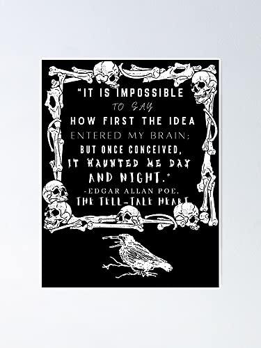 AZSTEEL Póster de Raven Bones y Poe con texto en blanco, 29,7 x 41,9 cm para amigos y familia