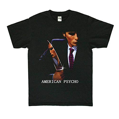 American Psycho Tシャツ アメリカン・サイコ Christian Bale 映画 Tシャツ メンズ/レディース Tシャツ/夏服 スポーツ プリント Tシャツ 半袖 無地 通気性 ファッション