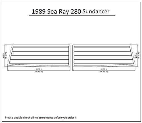 1989 Sea Ray 280 Sundancer Swim Platform Pad 1/4' 6mm Boat EVA Teak Decking (Light Brown with Black Lines)