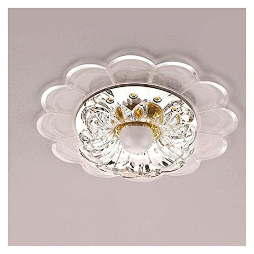 CMMT Lámpara LED de Techo Circular de Aire Moderno Simple Pantalla acrílica de Cristal Transparente Elegante Pasillo Pasillo balcón Sala de...