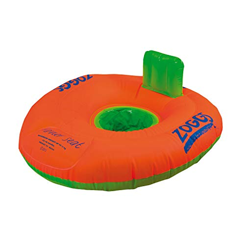 Zoggs Baby Zoggy INFLatable Trainer, Swim Seat, Orange/Green, 0-12 Months/0-11 Kg