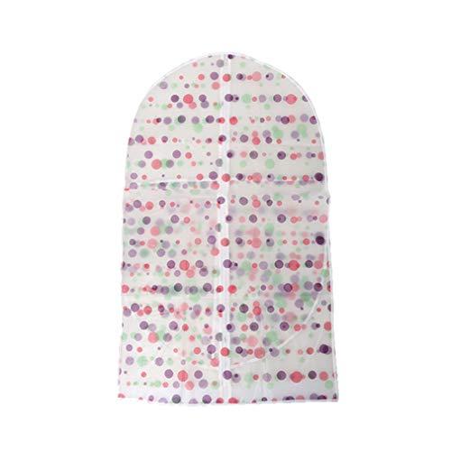 Yeucan Kleidung Staubschutz Blumenmuster Wasserdicht Atmungsaktiver Anzugsschutz Staubdichter Mantel Hängende Aufbewahrungstasche,Punktpunkt
