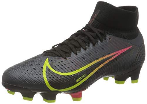 Nike Superfly 8 PRO FG, Scarpe da Calcio Unisex-Adulto, Black/Cyber-off Noir-Rage Green-Siren Red, 39 EU