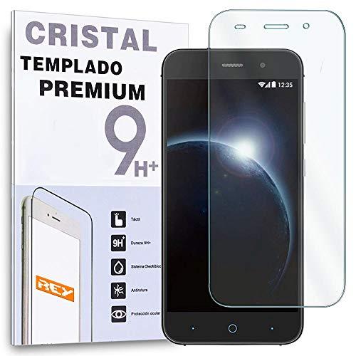 REY Protector de Pantalla para ZTE Blade V6 Cristal Vidrio Templado Premium