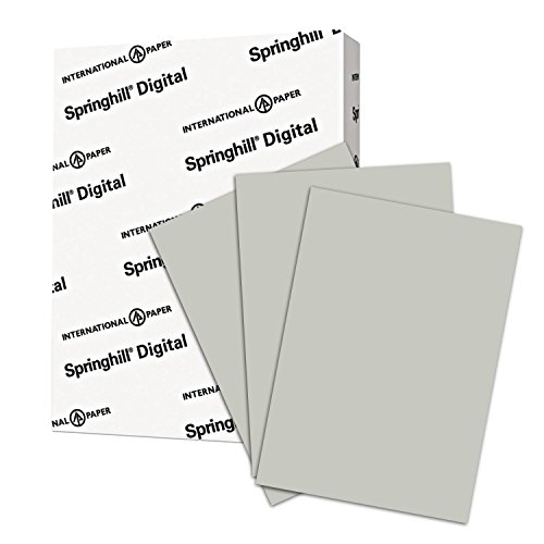 Springhill Gray Colored Cardstock Paper, 110lb Index, 199 gsm, 8.5 x 11 card stock, 1 Ream / 250 Sheets - Heavy Cardstock with Smooth Finish (065300R)