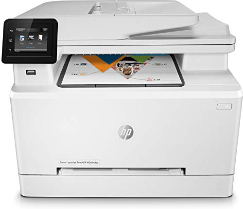HP M281fdw Color Laserjet Pro – Impresora Multifunción Láser (WiFi, fax, copiar, escanear, imprimir en color, 21ppm), color Blanco