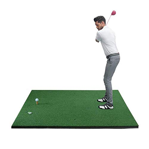 Hh001 Golfmatte Golfübungsmatte Golfmatte Übungsgolfmatte Indoor Swing Trainer (Color : Green, Size : 150CM*150CM*0.3CM)