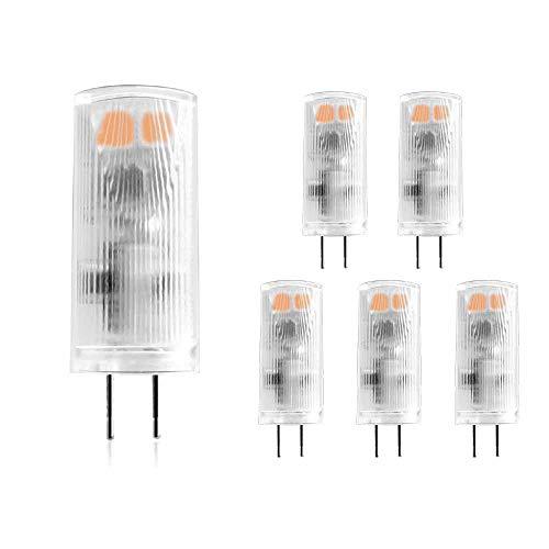 HAISHA G4 LED Lampen 1W, Ersatz 10W Halogenlampen, Warmweiß 2700K, 90lm, AC/DC 12V, Nicht Dimmbar, flackerfrei, 5 Stück [Energieklasse A++]