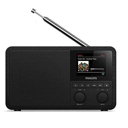 Philips Audio Internetradio DAB+ PR802/12 Radiowecker DAB+ (Bluetooth, DAB+, Sleep Timer, Dual Alarm, Spotify Connect) Schwarz