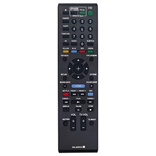 RM-ADP072 Replace Remote Control fit for Sony Blu-ray Disc DVD Player BDV-E190 BDV-E290 BDV-E385 BDV-E390 BDV-E490 BDV-E690 BDV-N590 BDV-N790 BDV-N790W BDV-N890W Bdv-n890w/z BDV-N990 Bdv-n990w BDV-T39