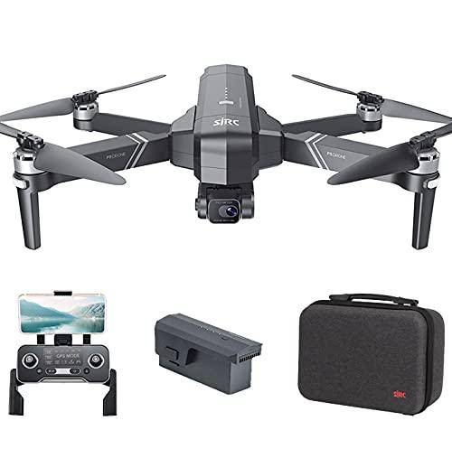 Entrega en 3~7 Días, SJRC F11 Pro 4K GPS Drone con EIS Cámara HD, Cardán Mecánico de 3 Ejes, Distancia de Control de 1,2km, 5.8Ghz WiFi FPV Drones Adultos, 26Minutos Profesional Quadcopter (1 Pila)