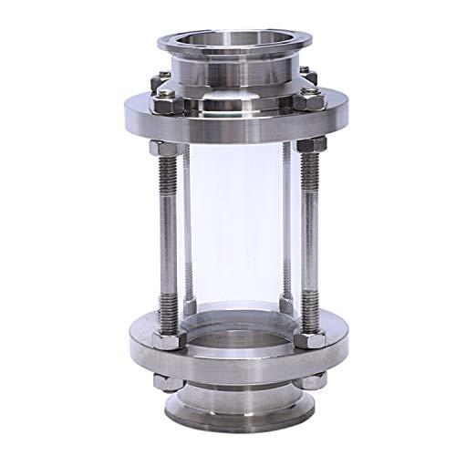 Quata Inline-Schauglas Mit Klemmende, Durchfluss Sanittr Schauglas Sus316 2 Zoll Tri Clamp Typ (Durchflussrohr Od 51Mm)