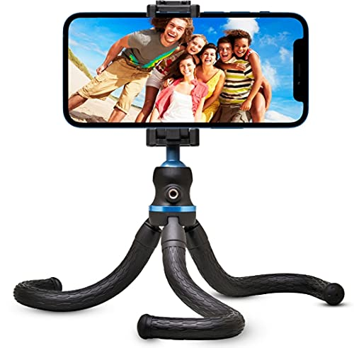 gorilla pod smartphone Flyroy | Treppiede Smartphone |Treppiedi cellulare Octopuss| Cavalletto Telefono Modello 2021 Blu Cellulari |Tre piedi per telefono Regolabile e Snodabile| Treppiede compatibile con gopro e iphone