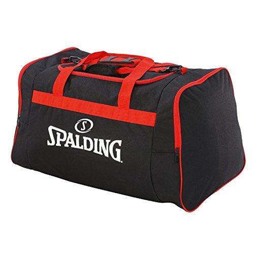 Spalding Team Sporttasche, 25 cm, Schwarz (Negro/Rojo)