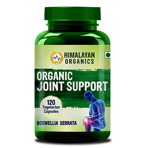 Himalayan Organics Organic Joint Support Supplement with Boswellia, Turmeric, Moringa & Alfalfa | Joint Pain Supplement | 120 Veg Capsules