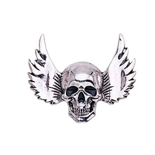 3D Winged Skull épinglette Simple Crâne Halloween Costume Pins Soirée Broche 1Pc