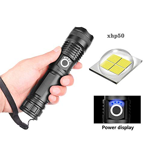 Linterna LED super potente xhp50 recargable USB Zoom linterna de caza lámpara de camping