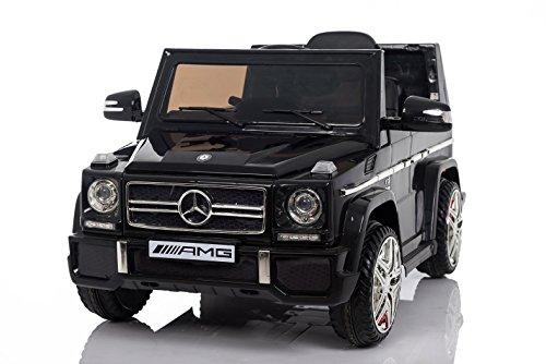 RC Auto kaufen Kinderauto Bild: Kaufexpress Mercedes Benz G65 AMG Jeep SUV Kinderfahrzeug Kinderauto Elektroauto Fernbedienung MP3 Anschluss in Schwarz*