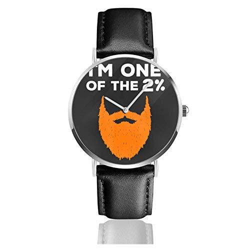 Relojes Anolog Negocio Cuarzo Cuero de PU Amable Relojes de Pulsera Wrist Watches Pelirroja Regalo I Pelirroja Pelirroja Barba