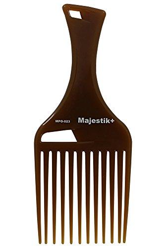 Peigne marron infusé d'huile essentielle naturelle avec pochette en PVC sur mesure, de Majestik