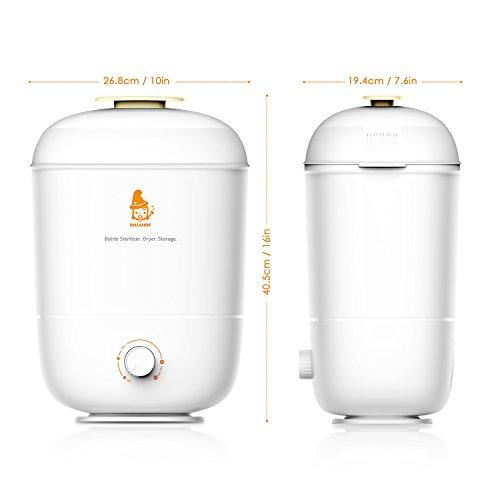 Balla Bébé Babyflaschen Sterilisator Elektrischer Dampfsterilisator und Trockner, 3 in 1 Flaschen Trockner für verschiedene Nuckelflaschen, Sterilisierung, Trockner und Flaschenlagerung - 7
