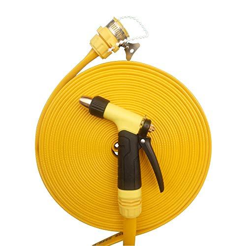 Waterslang HAIYU- 1/2 Inch Sprinkler Soaker Slang, Platte ontlading Tuinslang, Flexibele PVC met fittingen en mondstuk, voor TuinIrrigatie Thuis Reiniging