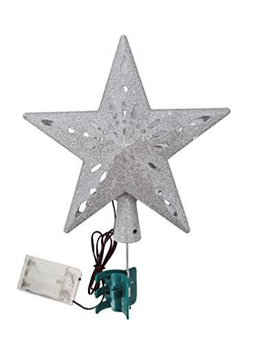 ❄ Weihnachtsbaumspitze ❄ Weihnachtsdeko ✔ LED ✔ Klammer ✔ mit Projektionen