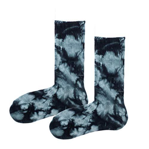 Museourstyty Socken Herren Damen Neuheit Bunte Batik Baumwolle Boot Socken Harajuku Skateboard Strümpfe Sportsocken