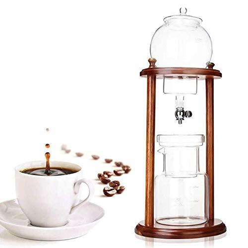 OPNIGHDYMD Cafetera de Vidrio Transparente de 600 ml, cafetera con Filtro Helado, cafetera de Goteo para Oficina, café en casa