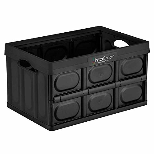 3-pack Instacrate Collapsible 12-gallon Storage Bin for Easy Storage (Black)