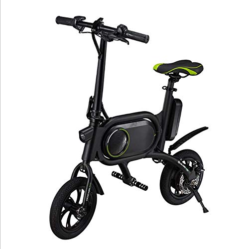 Art Jian Fold portátil Plegable Bicicleta eléctrica, 12 Pulgadas 36V E-Bici 5.2Ah batería de Litio de 350 W Ciudad de Bicicletas de Doble Freno de Disco de Bicicleta eléctrica