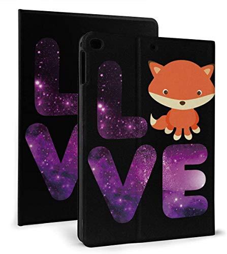Galaxy Love Animal Cute Fox PU Funda Inteligente de Cuero Función Auto Sleep / Wake para iPad Mini 4/5 7,9 'y iPad Air 1/2 9,7' Funda