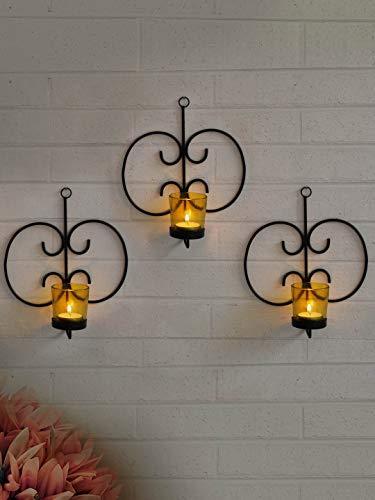 Candelabros de pared para colgar en la pared, para decoración del hogar, apliques de pared con velas de candelabro, artículo de...
