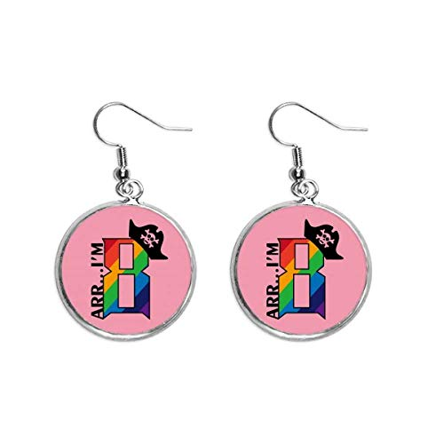 Ohrhänger mit Piratenhut in Regenbogenfarben, für Damen