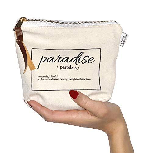 Kleine Kosmetiktasche (20x17cm) passt perfekt in die Handtasche. Verwendbar als Kulturbeutel, Make up organizer, zur Stifte aufbewahrung oder auf der Reise als Waschbeutel - Designed in Berlin