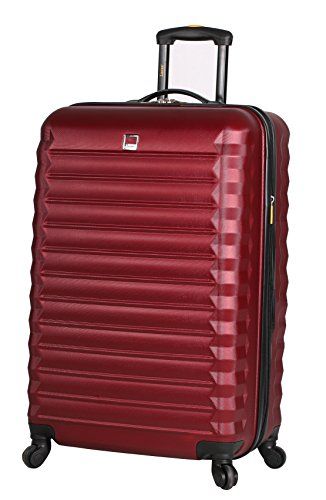 Lucas Treadlight 20 Inch Carry On Luggage Collection -Expandable Scratch Resistant (ABS + PC) Hardside Suitcase- Lightweight Durable Checked Bag With 4-Rolling Spinner Wheels (20in, Tread Burgundy)