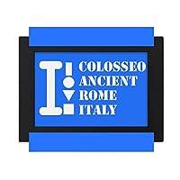 コロシオス古代ローマイタリア デスクトップフォトフレーム画像ブラックは、芸術絵画7 x 9インチ