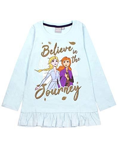 Frozen 2 Elsa and Anna Believe Camiseta de Manga Larga con Volantes para niña