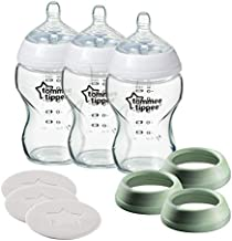 Tommee Tippee Closer to Nature 3 in 1 Convertible Glass Baby Bottles - 9oz, 3ct