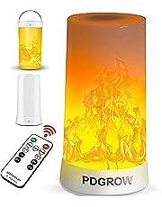 PDGROW Led-vlammenlamp, USB-oplaadbaar, met vlameffect, nachtlampje, bureau/tafellamp, waterdicht, met afstandsbediening voor Kerstmis, Halloween, party, binnen en buiten