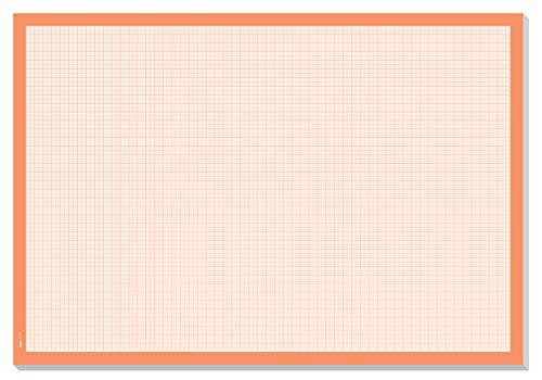 SIGEL HO270 Papier-Schreibunterlage zum Abreißen, Millimeterpapier-Block