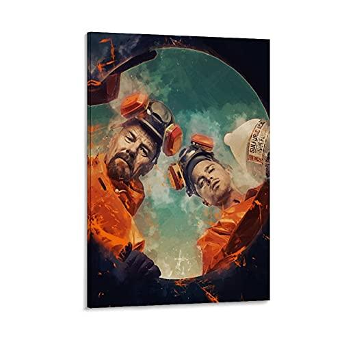 """SDFAW Póster de película """"Breaking Bad Poster en lienzo y arte de la pared, impresión moderna para dormitorio familiar, 40 x 60 cm"""