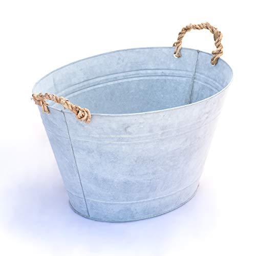 Antikas | Zink-Wanne | romantische Waschwanne/Badewanne für den Garten und Bauernhof