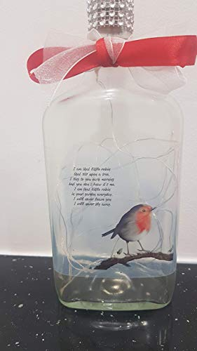 Robin/Rememberence light up frosted bottle