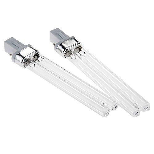 Lot de 2 UV Lampe Ampoule Tube Sterilisateur 9W Pour Aquarium Poisson 165mm