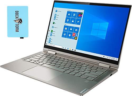 Lenovo Yoga C740-14IML Home and Business Laptop (Intel i5-10210U 4-Core, 8GB RAM, 2TB PCIe SSD, Intel UHD Graphics, 14.0' Touch Full HD (1920x1080), Fingerprint, WiFi, Bluetooth, Win 10 Pro) with Hub