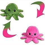 Pulpo Reversible Gigante 30 cm, Peluche Pulpo Reversible XXL Color Rosa y Verde, Muñeco Pulpito Reversible Grande Juguete
