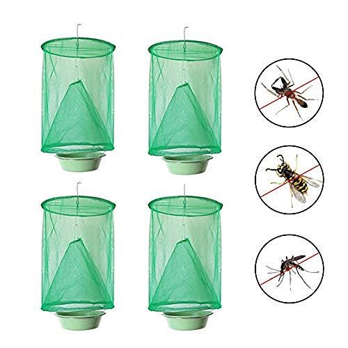 FALUCKYY Ranch Fliegenfalle, Anti-Moskito Ungiftig Faltende Fliegenfalle Hängende Catcher Käfignetz Fly Wasp Killer Nutzfläche für Innenräume, Gärten
